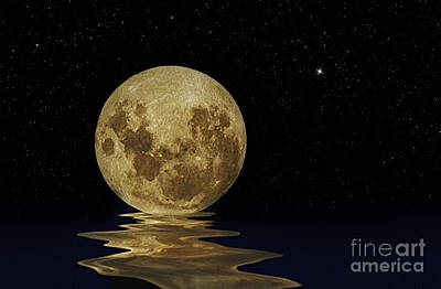 Molten Moon Poster by Kaye Menner