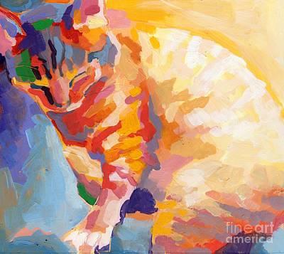 Mona Lisa's Rainbow Poster by Kimberly Santini