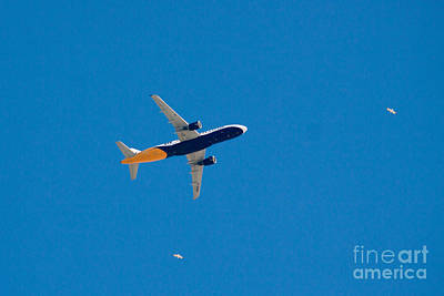 Monarch Airbus A320 Landing At Gibraltar Poster by Jan Mika