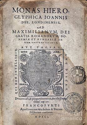 Monas Hieroglyphica (1591) Poster by Middle Temple Library