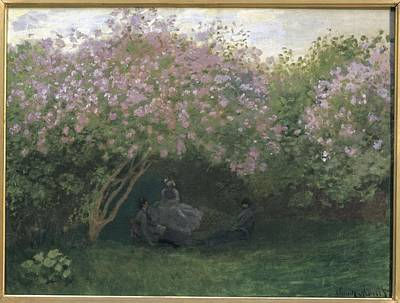 Monet, Claude 1840-1926. Lilacs, Grey Poster by Everett