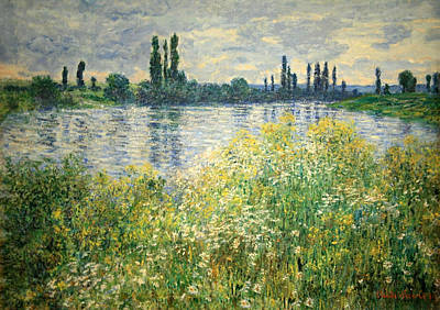 Monet's Banks Of The Seine At Vetheuil Poster by Cora Wandel