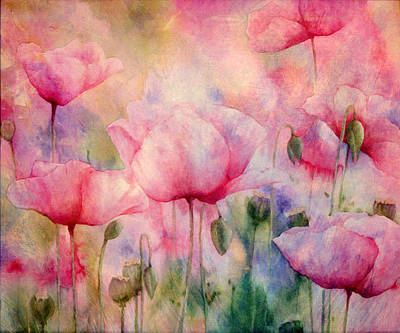 Monet's Poppies Vintage Warmth Poster by Georgiana Romanovna