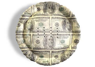 Money Dollar Pie Poster by Allan Swart