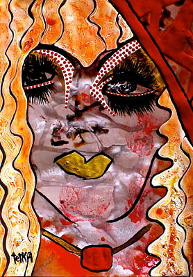 #money #kiss Poster by Lady Picasso Tetka Rhu