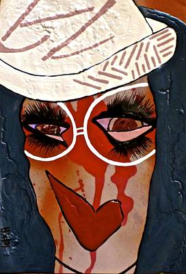 Hat Love Poster by Lady Picasso Tetka Rhu