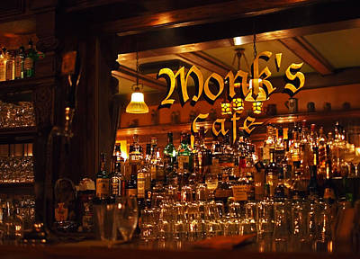 Monks Cafe Poster by Rona Black