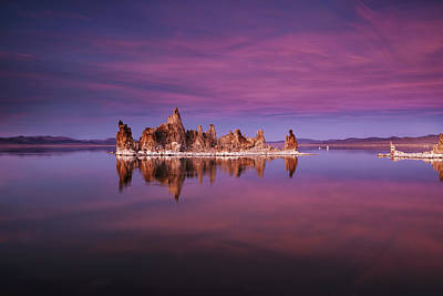 Mono Lake Sunset Poster by Andrew Soundarajan