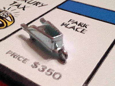 Monopoly Board Custom Painting Park Place Poster by Tony Rubino