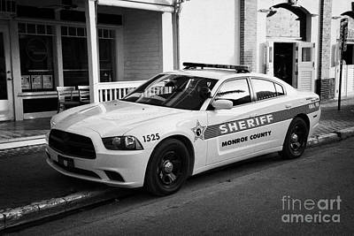 Monroe County Sheriff Patrol Squad Car Key West Florida Usa Poster by Joe Fox