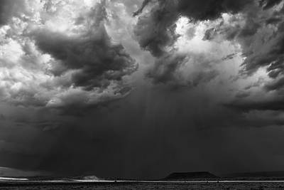 Monsoon Afternoon - Black And White New Mexico Desert Photograph Poster by Duane Miller
