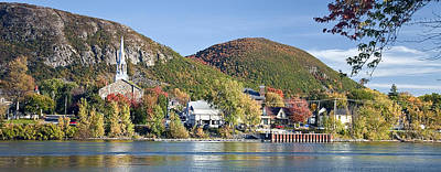 Mont St. Hilaire Autumn Scene Poster by Rick Shea