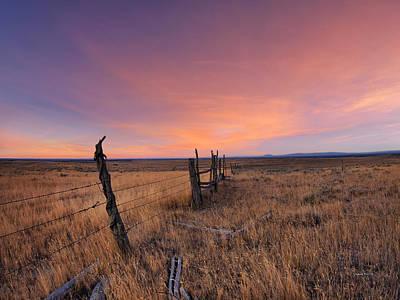 Montana Sunset Poster by Leland D Howard
