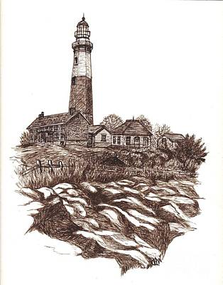 Montauk Lighthouse Long Island  N Y Poster by Carol Wisniewski