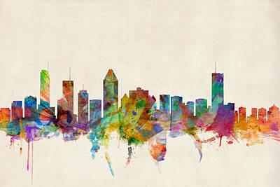 Montreal Skyline Poster by Michael Tompsett