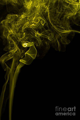 Mood Colored Abstract Vertical Yellow Smoke Wall Art 03 Poster by Alexandra K