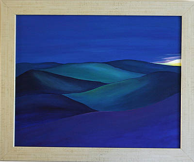 Moody Blue Poster by Aileen Carruthers