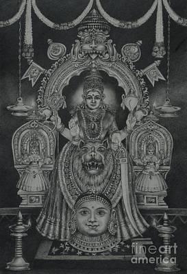 Mookambika Devi Poster by Asha Sasikumar