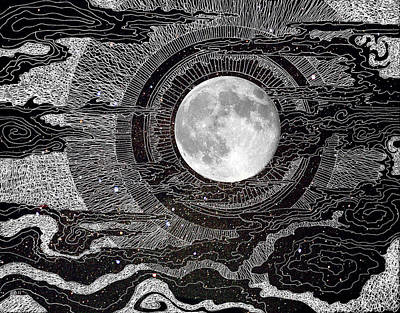 Moon Glow Poster by Brenda Erickson