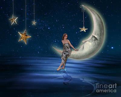 Moon Goddess Poster by Juli Scalzi