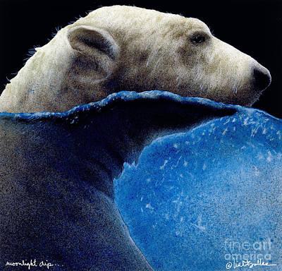 Moonlight Dip... Poster by Will Bullas
