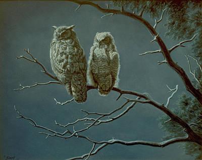 Moonlight Watchers Poster by Paul Krapf