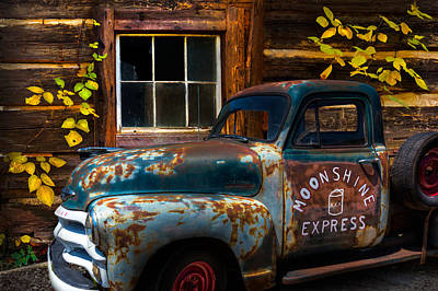 Moonshine Express Poster by Debra and Dave Vanderlaan