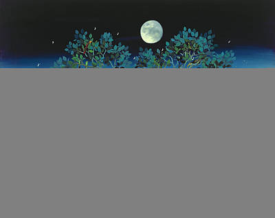 Moonshine Sonata, 2006 Oil On Canvas Poster by Magdolna Ban