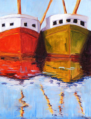Moored Poster by Nancy Merkle