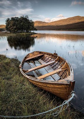 Moored On Loch Awe Poster by Dave Bowman