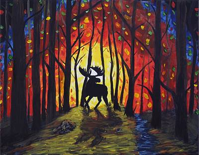 Moose Mountain Poster by W C Allen