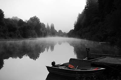 Morning Fog On Russian River Poster by Art K
