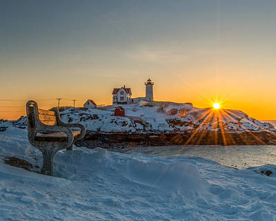 Morning Light At Nubble Lighthouse Poster by Bryan Xavier