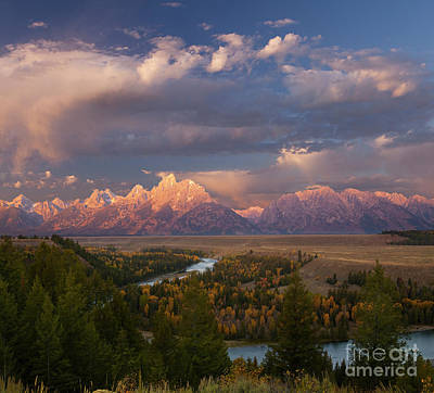 Morning Light At Snake River Overlook Poster by Keith Kapple