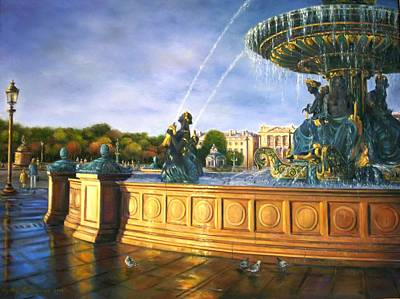 Morning On Place De La Concorde Poster by Gulay Berryman
