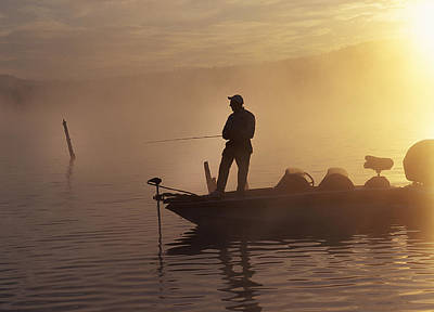 Morning On The Lake II Poster by Buddy Mays