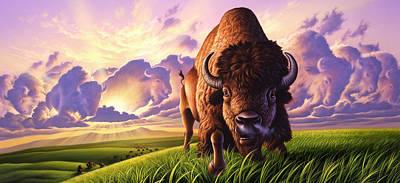 Morning Thunder Poster by Jerry LoFaro