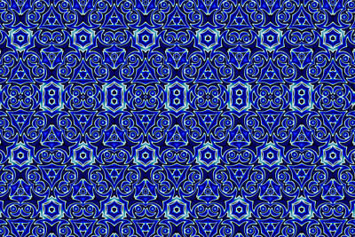 Moroccan Textile Pattern Poster by Hakon Soreide