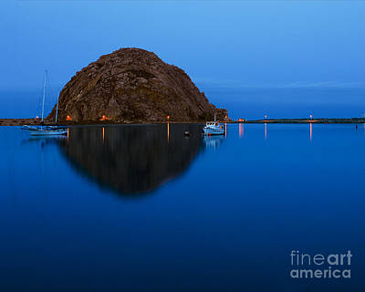 Morro Bay Calm Morning Poster by Terry Garvin