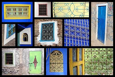 Moroccan Windows Poster by Delphimages Photo Creations