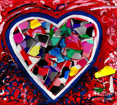 Mosaic Heart Poster by Genevieve Esson