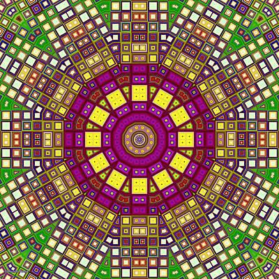 Mosaic Kaleidoscope 3 Poster by Shawna Rowe
