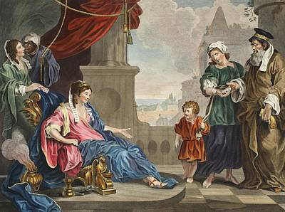 Moses Brought To Pharoahs Daughter Poster by William Hogarth
