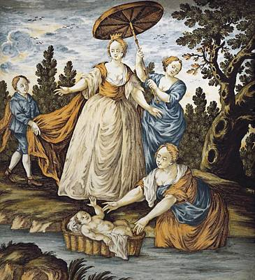Moses Saved From The Water. 18th C Poster by Everett