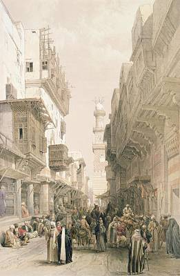 Mosque El Mooristan, Cairo, From Egypt Poster by David Roberts