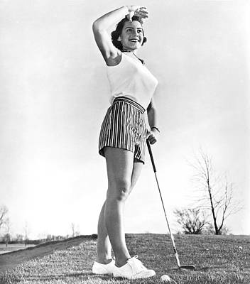 Most Beautiful Golfer Of 1957 Poster by Underwood Archives