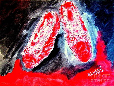 Most Expensive Dorothy's Ruby Slippers Three Million Dollars Poster by Richard W Linford