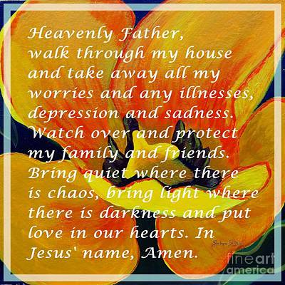 Most Powerful Prayer With Tulip Poster by Barbara Griffin