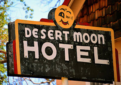 Motel In The Desert Poster by David Lee Thompson
