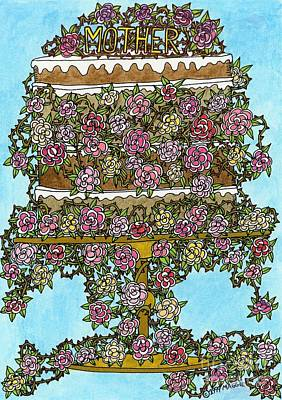 Mother Cake Poster by Mag Pringle Gire